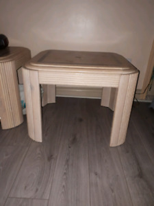 2 over-sized end tables