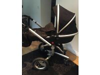 Silver cross surf 2 pram with car seat