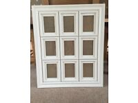 9 picture white wooden vintage style picture frame