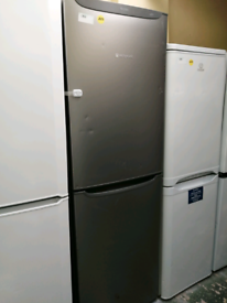 Hotpoint fridge freezer silver at Recyk Appliances