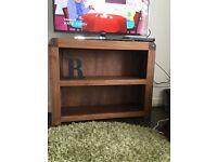 Small bookcase/tv unit - solid walnut