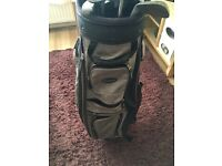 Ram golf carry bag with multiple clubs