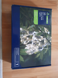 10 outdoor solar lights warm white bulbs