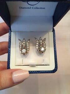 ✨REDUCED✨ Custom hand made Diamond earrings, never worn!