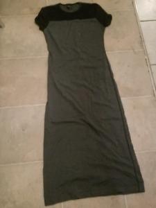 Robe longue noir et gise marques mexx small