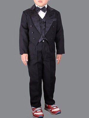 rack Smoking festlich Kinder Anzug Jungen schwarz80 bis 128 (Kinder Frack)