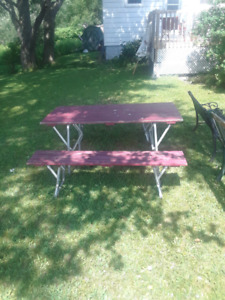 Portable picnic and bench