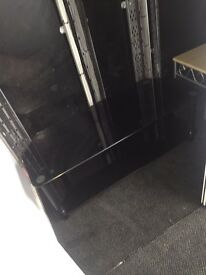 Glass TV stand large
