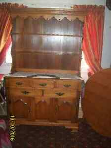 2 piece hutch and table set