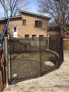 Above Ground Pool Deck Safety Fence from Protect Enfants