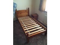 Solid Pine Single Chunky Bed Frame