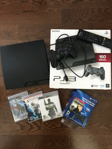Sony PS3 (160GB) + additional remote + games