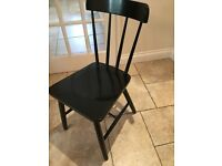 6 wooden black dining chairs