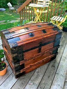 antique malle coffre trunk chest 1880's West Island Greater Montréal image 3