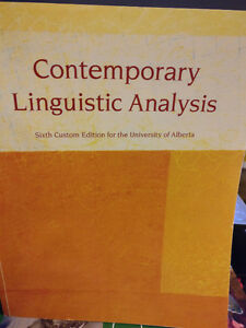 Contemporary Linguistic Analysis - UofA- custom edition