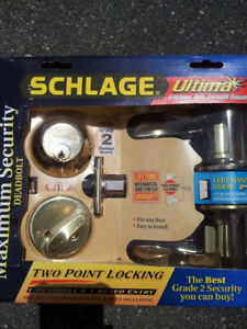 NEW SCHLAGE DOOR ENTRY LOCK !SET