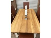 Neptune John Lewis solid oak table and chairs in new condition