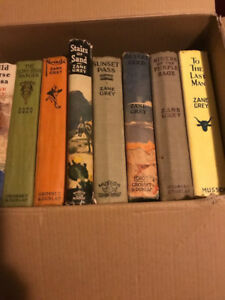 Zane Grey Huge Lot of Books First Editions Included 30 Total