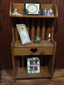 Country theme nic-nac floor shelving unit