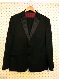 M/&S LUXURY Italian LINEN Tailored Fit BLAZER ~ Size 50 Medium ~ NAVY Pinstripe