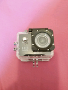 HD Action Cam With Case and Screen