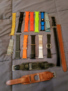 Collection of Apple watch straps 42 mm