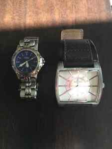 Stainless Steel 50 Meters Fossil and Aldo Watch For One Price!!