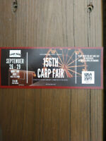 Carp fair day pass tickets