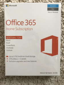 office 365 (up to 5 users - 1 year)