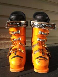 Unisex Rossignol Radical Jr Orange Ski Boots-Size 5.5, 6, 6.5, 7