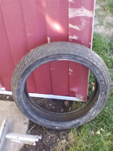Motorcycle. Tire dunlop radial