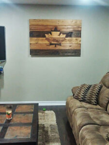 Solid Wood Rustic Wall Art HOLIDAY SALE!! London Ontario image 2