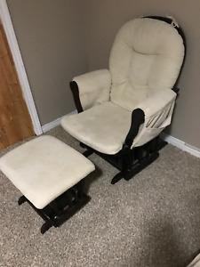 Nursery Glider/Rocking chair with Foot rest glider - $150
