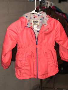 Girls raincoat - Osh Kosh, size 6, Pink