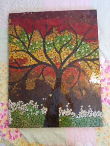 Glass Tile Tree Mosaic