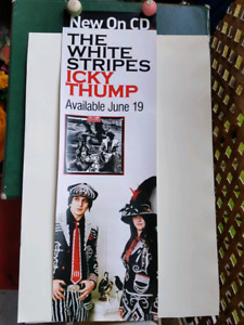 vintage White Stripes poster in store promotional