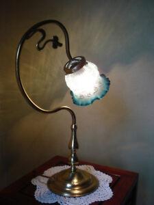 Lampe de table ( laiton massif ) 1950's, Vintage