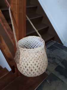 Outdoor Décor - Hanging Wicker Basket w Candle, Outdoor XO set
