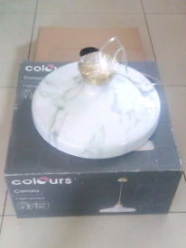 Brand New boxed B&Q light pendant marble effect