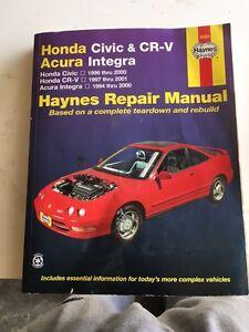 Honda Civic; CR-V (CRV) Acura Integra Repair Manual