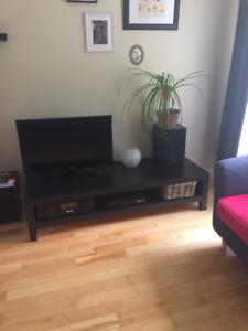 Meuble télé noir Ikea Lack