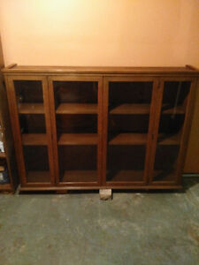 Mid Century Display Cabinet - All Wood Hutch