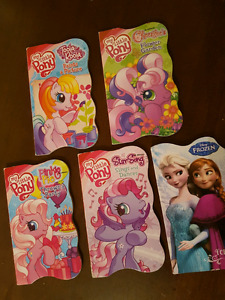 4 My Little Pony and 1 Disney Frozen Hardback Books