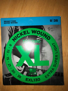D'ADDARIO Nickel Wound EXL130 8/38 guitar strings for 4$/package