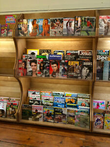 Wood Magazine Shelf with Lighting Kingston Kingston Area image 1