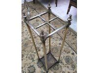 Antique old brass umbrella / stick stand.