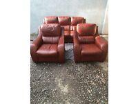 Sofitalia genuine brown leather 3 piece suite RRP £6000