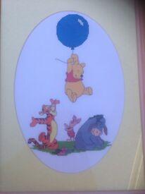 Huge Winnie the Pooh cross stitch print