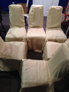 6 white dining chair set
