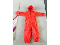Children's padded all in one waterproof suit aged 4 to 6 years